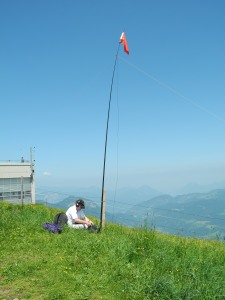 SOTA flag on 20m inverted V pole