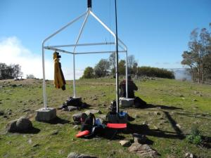 "Mt Taylor Trig point ""radio active"""