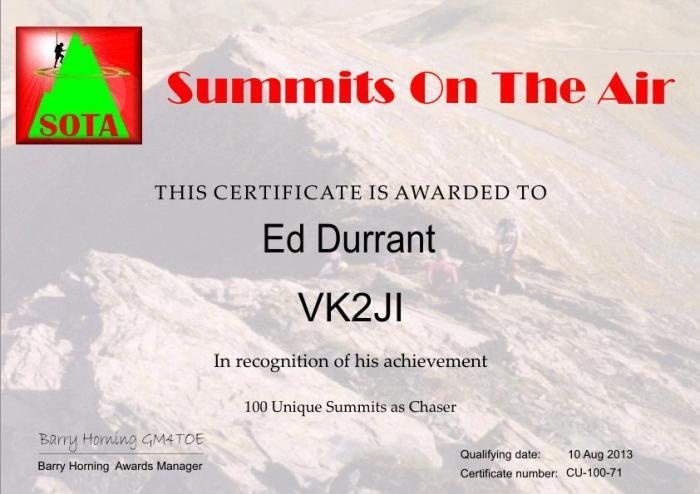 VK2JI_100_Unique_Summits