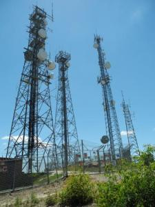 Microwave relay towers on Broken Back Ridge.